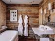 wood bathroom at Artist Residence hotel Pezane Conrwall