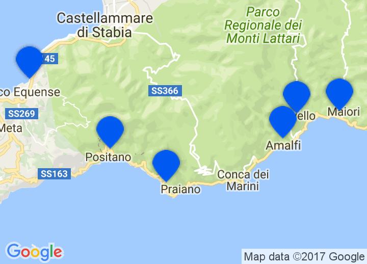 sorento italija mapa Secretplaces   hotéis de charme e casas de férias Amalfi, Capri  sorento italija mapa